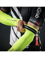 GripGrab Hi Vis Arm Warmers  - insulating, breathable, and bright