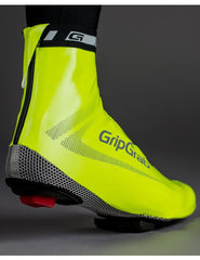 GripGrab Raceaqua Hi-Vis Bicycle Shoe Cover - water & wind proof, bright and light