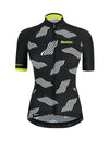 Santini Women's TONO Dune Jersey Black/Citrus Yellow