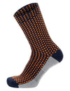 Santini Sfera Cycling Socks - Nautica Blue/Orange