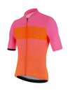 Santini Redux Fortuna Aero Short Sleeve Cycling Jersey - Atomic Orange/Pink