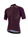 Santini Redux Genio Aero Short Sleeve Cycling Jersey - Atomic Orange/Vineyard