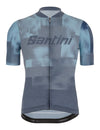 Santini Forza Indoor Training Jersey - Blue / Grey