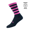 Sub4 Brevett Merino Cycling Socks - Pink/Black