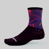 Swiftwick Vision Six Impression Detour Sock - purple/pink/black
