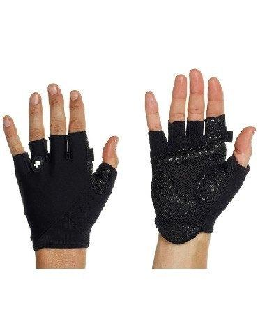 Assos Summer bicycle Gloves_S7 (Black Volkanga) -palm view