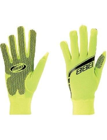 Gloves - BBB Raceshield Winter bicycle Glove (Neon)  Visible, Light Weight, Thin