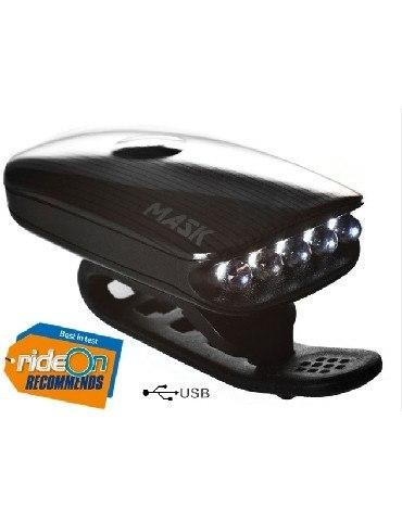 "Moon Mask bicycle light -  USB Rechargeable 70 Lumens Front- ""Best In Test"" 2"
