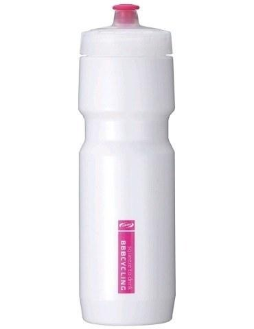 Bottles - BBB CompTank Cycling Bottle White Magenta 750ML  Dishwasher Saf