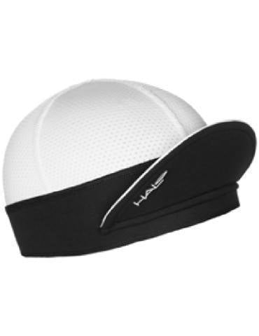 HALO Cycling Cap (white) - Lightweight Sun Protection brim up for better visibility