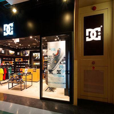 Shirts made in our partner factory in DC Shoes USA store in Barcelona