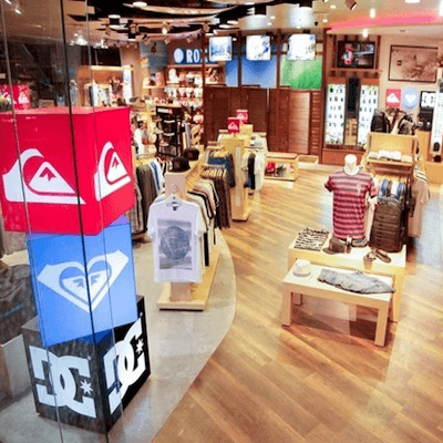 elo Merchandise at Quiksilver Barcelona