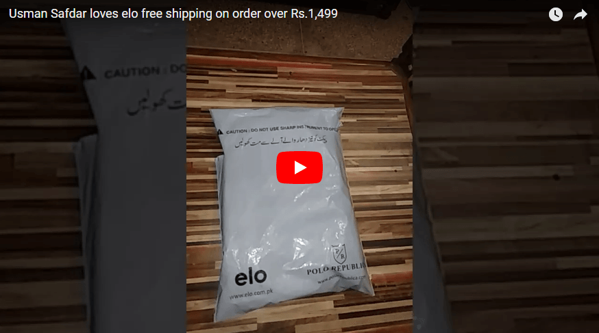 Usman Safdar loves elo free shipping on order over Rs.1,499