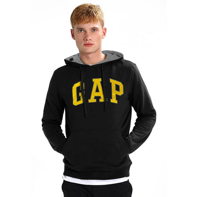 GP Logo Fleece Pull Over Hoodie Men's Pullover Hoodie Fiza Dark Black S