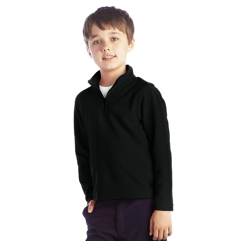 Spyfield Classic Long Sleeve Polar Fleece Zipper Neck winter Sweat Shirt Boy's Sweat Shirt Polo Republica Black 3-4 Years