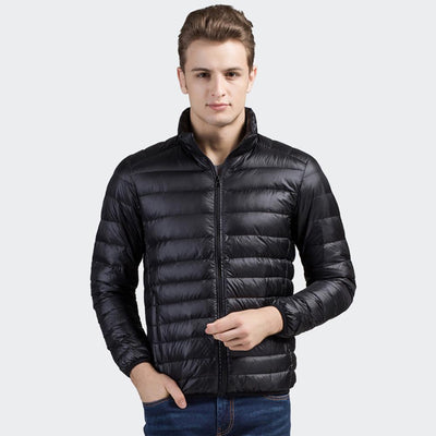 Davos Boston Ultra Light Down Jacket fits into a pouch Men's Jacket Sunshine China Black L