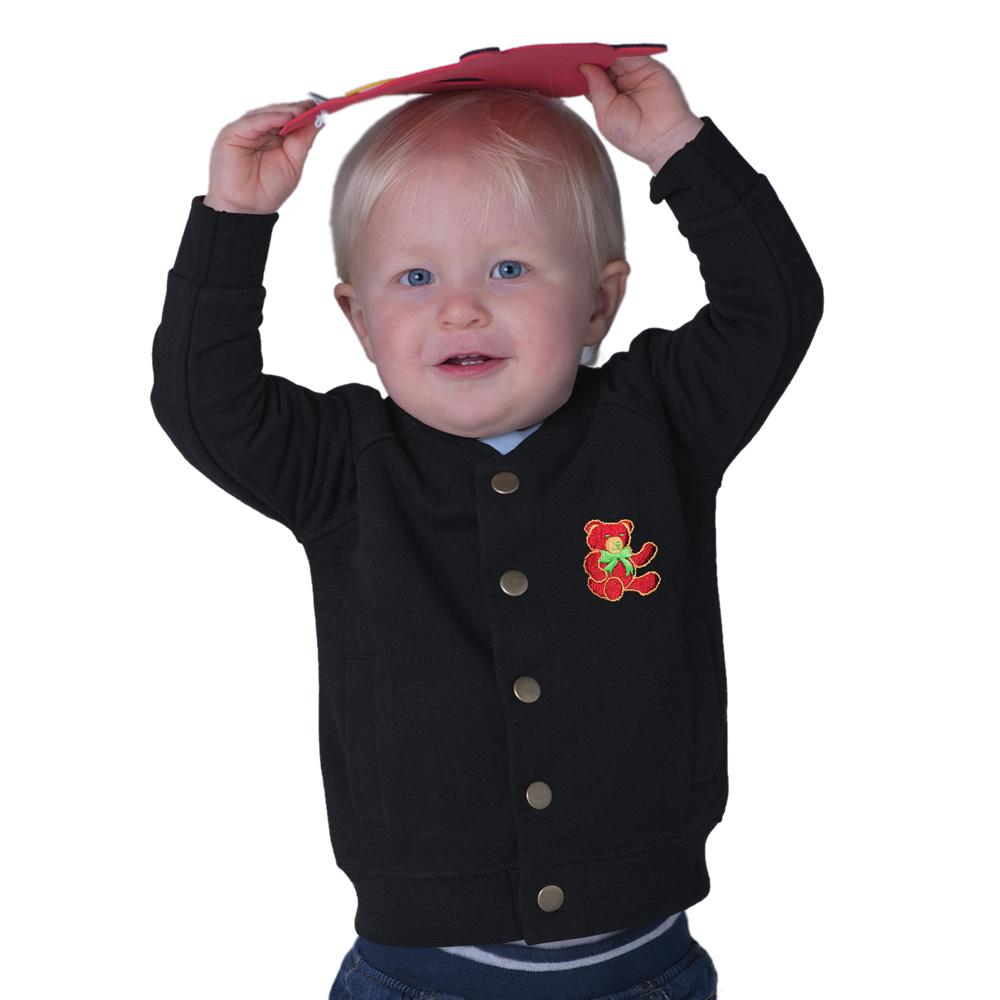 Polo Republic Red Bear Bomber Fleece Jacket Boy's Jacket Polo Republica Black 6-12 Months