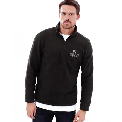 Polo Republica America's Cup Sperry 1/4 Zipper Neck Sweat Shirt Men's Sweat Shirt Polo Republica Black S