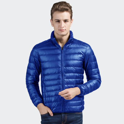 Davos Boston Ultra Light Down Jacket fits into a pouch Men's Jacket Sunshine China Royal L