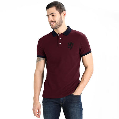 Polo Republica Leo Polo Shirt Men's Polo Shirt Polo Republica Burgundy Navy S