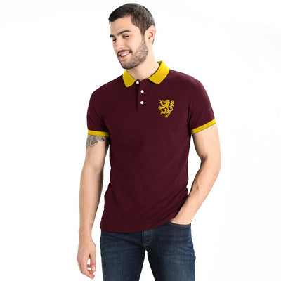 Polo Republica Leo Polo Shirt Men's Polo Shirt Polo Republica Burgundy Yellow S
