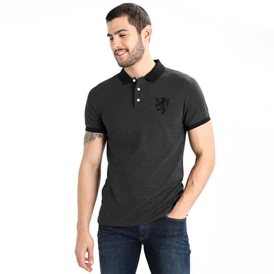 Polo Republica Leo Polo Shirt Men's Polo Shirt Polo Republica Charcoal Black S