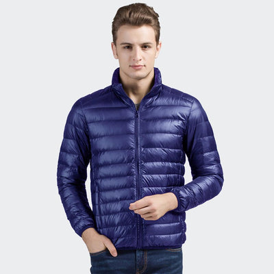 Davos Boston Ultra Light Down Jacket fits into a pouch Men's Jacket Sunshine China Navy L