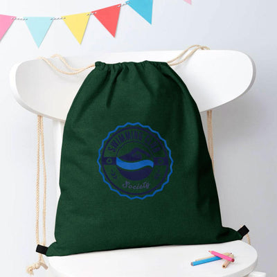 Polo Republica Mendrisio Printed Pique Drawstring Bag Drawstring Bag Polo Republica Swimming Club Green