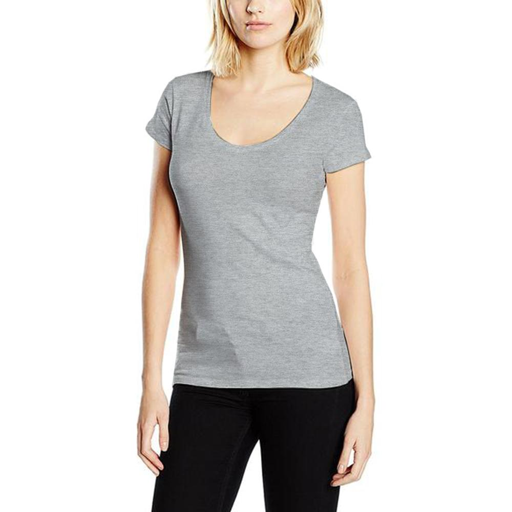 BYD Short Sleeve Tee Shirt Women's Tee Shirt Image Heather Grey XL