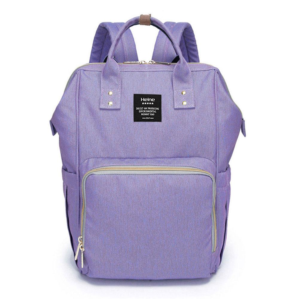 Bebewing Printed Baby Diaper Backpack Bag Women's Accessories Sunshine China Light Purple