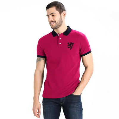 Polo Republica Leo Polo Shirt Men's Polo Shirt Polo Republica Magenta Navy S