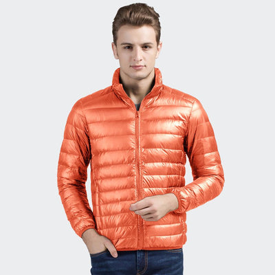Davos Boston Ultra Light Down Jacket fits into a pouch Men's Jacket Sunshine China Orange L