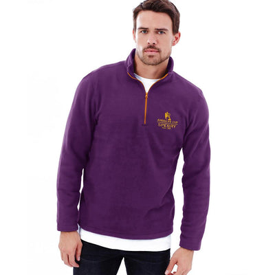 Polo Republica America's Cup Sperry 1/4 Zipper Neck Sweat Shirt Men's Sweat Shirt Polo Republica Purple S