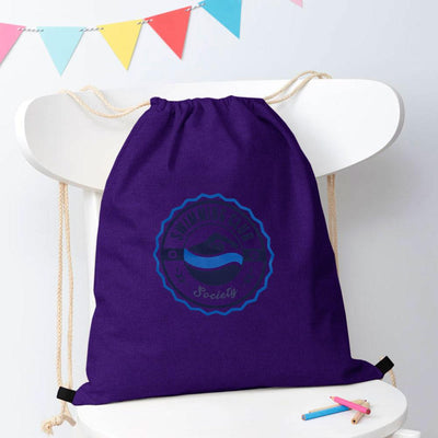 Polo Republica Mendrisio Printed Pique Drawstring Bag Drawstring Bag Polo Republica Swimming Club Purple