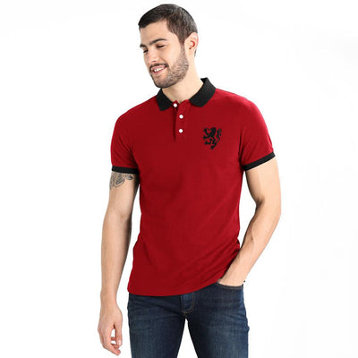 Polo Republica Leo Polo Shirt Men's Polo Shirt Polo Republica Red Black S