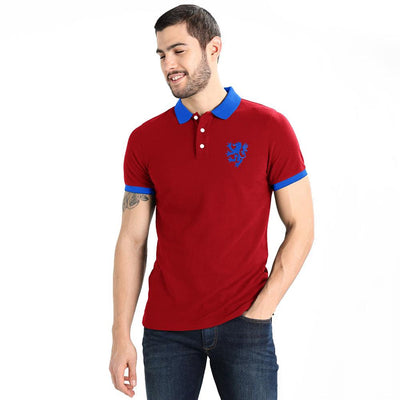 Polo Republica Leo Polo Shirt Men's Polo Shirt Polo Republica Red Blue S