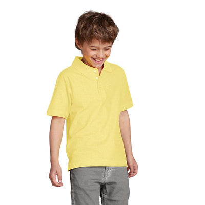 Totga Short Sleeve Polo Shirt Boy's Polo Shirt Totga Yellow 4