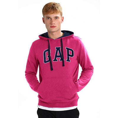 GP Logo Fleece Pull Over Hoodie Men's Pullover Hoodie Fiza Tropical Pink XS