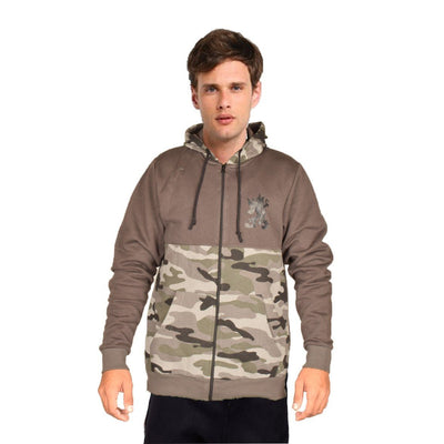 Pulse Men's Commando Style Zipper Hoodie Men's Zipper Hoodie NMA Graphite Camo S