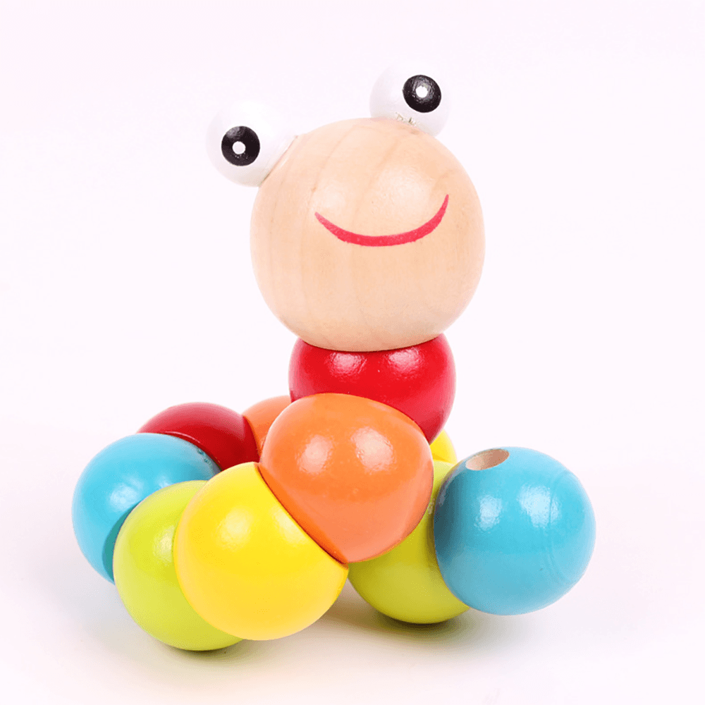 Colorful Wooden Worm Puzzle For Kids Toy Sunshine China