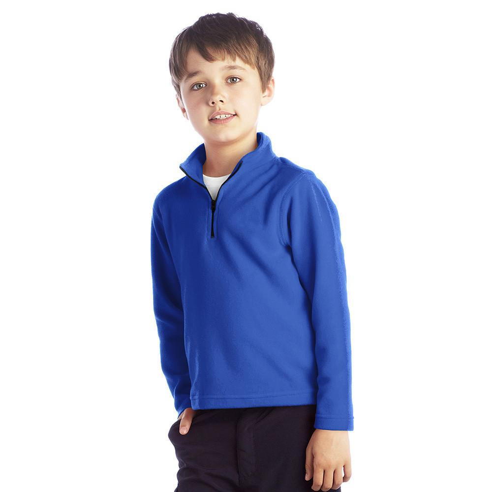 Spyfield Classic Long Sleeve Polar Fleece Zipper Neck winter Sweat Shirt Boy's Sweat Shirt Polo Republica Royal 3-4 Years