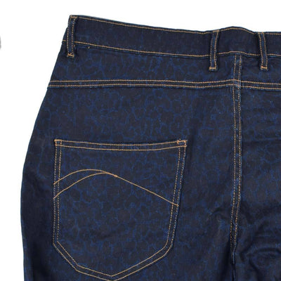 Graded Goods Dot Printed Stretchable Straight Fit Denim