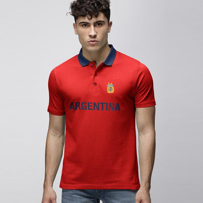 Polo Republica Argentina Polo Shirt Men's Polo Shirt Polo Republica Red Navy S