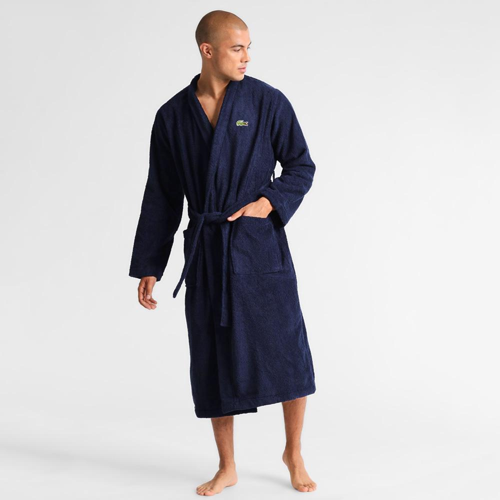Lacoste Home Pique Bathrobe Bathrobe First Choice