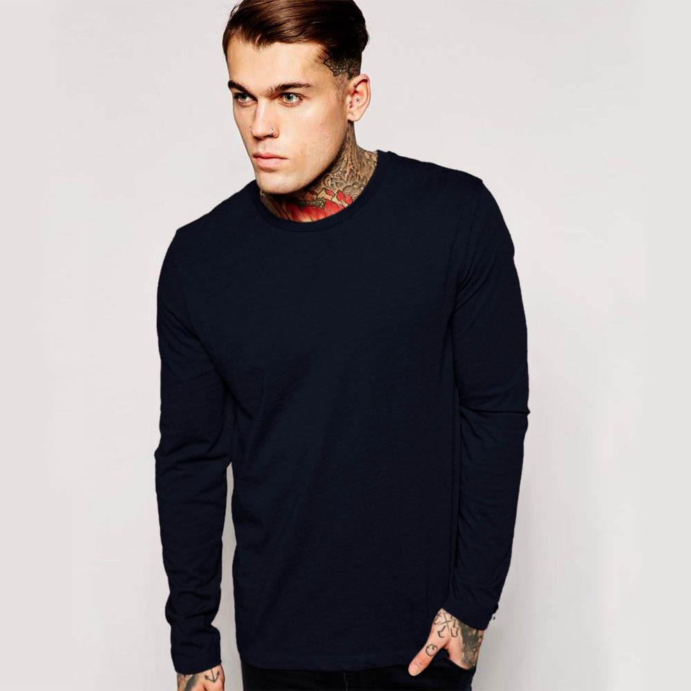 LE Bleeni Long Sleeve Crew Neck Minor Fault Tee Shirt