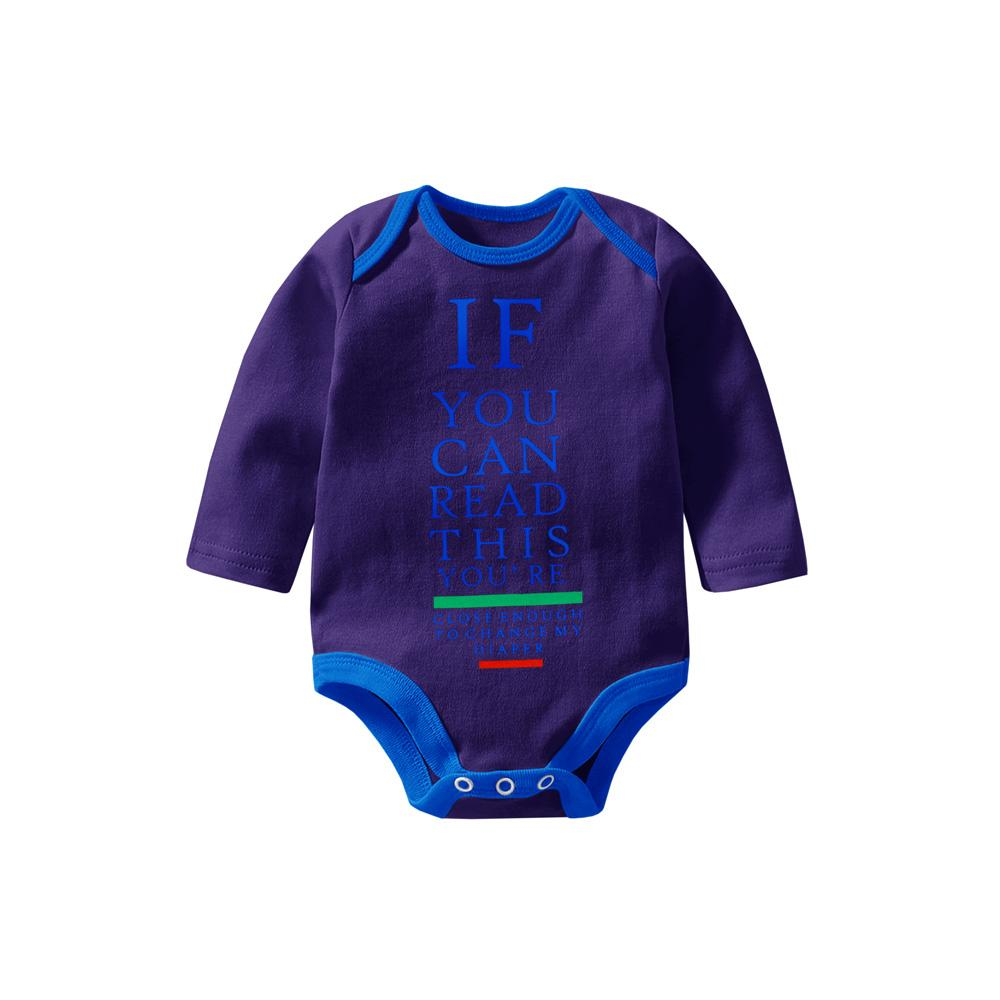 Polo Republica If You Can Long Sleeve Baby Romper Babywear Polo Republica Purple Blue 0-3 Months