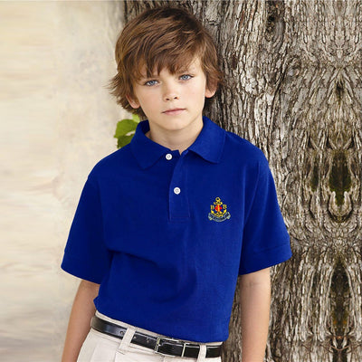 EGL Boys Brigade Polo Boy's Polo Shirt ExportLeftovers.com Pepsi Blue 13-14 Years