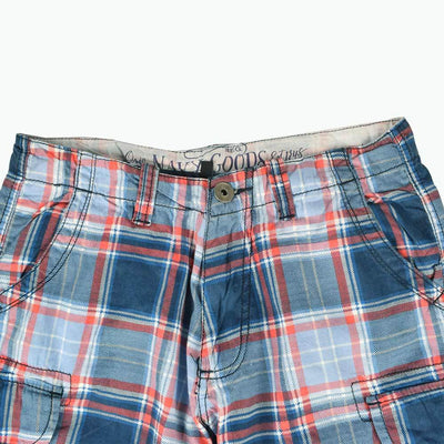 ONG 1948 Check Design Cargo Shorts Men's Shorts First Choice