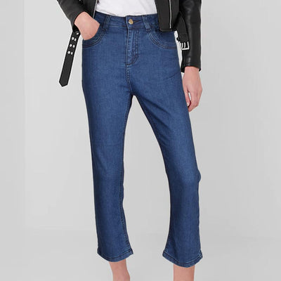Plus Collection Women's Fashionable Straight Fit Denim Women's Denim SRK Blue 24 24