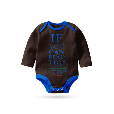 Polo Republica If You Can Long Sleeve Baby Romper Babywear Polo Republica Dark Brown Blue 0-3 Months